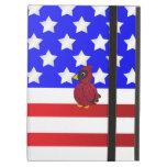 Patriotic cardinal iPad folio case