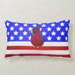 Patriotic cardinal pillows