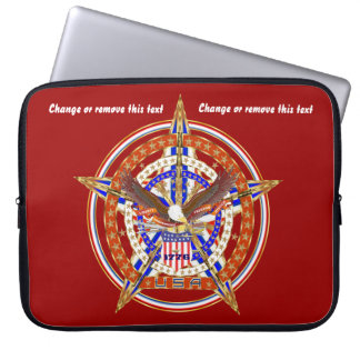 Patriotic Case Carry Electronic Device View Hints Computer Sleeves