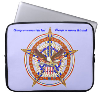 Patriotic Case Carry Electronic Device View Hints Laptop Computer Sleeves