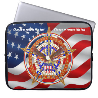Patriotic Case Carry Electronic Device View Hints Laptop Sleeves