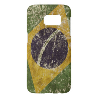 Patriotic case with flag of Brazil