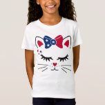 Patriotic Cat 4th of July T-Shirt