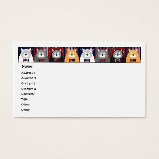 Patriotic Cat Business Card