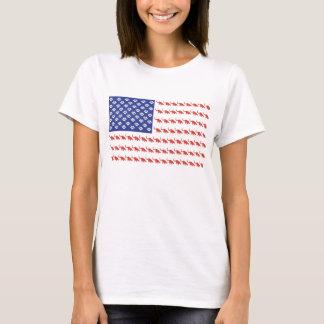 Patriotic Cat Flag T-Shirt