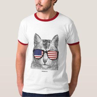 Patriotic Cat - Politiclothes Humor - T-Shirt