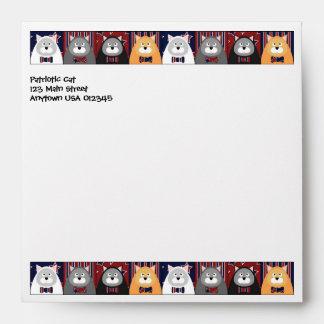 Patriotic Cat Square Envelope