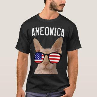 Patriotic Cat T-shirts, Sphynx, AMEOWICA T-Shirt