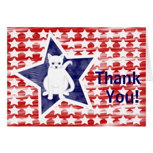 Patriotic Cat, Thank you card