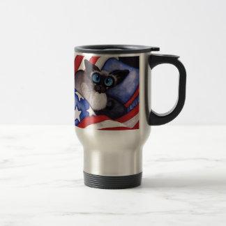 Patriotic Cat Travel Mug