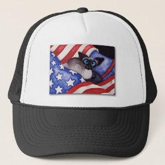 Patriotic Cat Trucker Hat