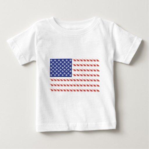 Patriotic Cat/USA Baby T-Shirt