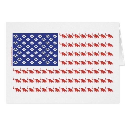 Patriotic cat usa greeting cards zazzle