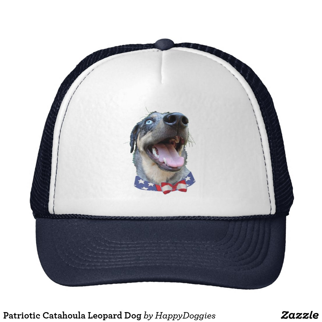 Patriotic Catahoula Leopard Dog hat