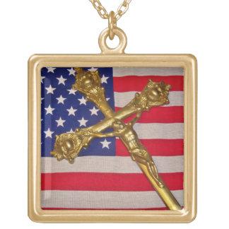 Patriotic Catholic Necklace