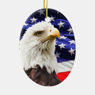 Patriotic Ceramic Ornament