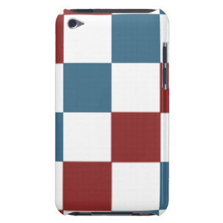 Patriotic Checker Pattern Barely There iPod Cover