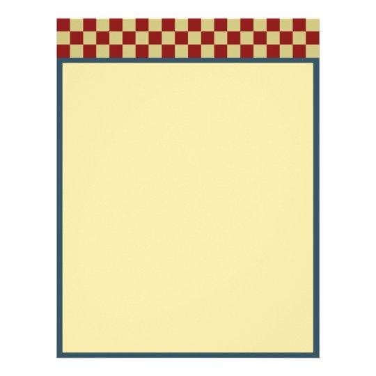 Patriotic Checkerboard Letterhead