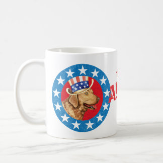 Patriotic Chessie Classic White Coffee Mug