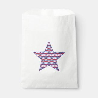 Patriotic Chevron Star Favor Bag