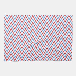 Patriotic Chevron Zigzag Kitchen Towels. Kitchen Towels