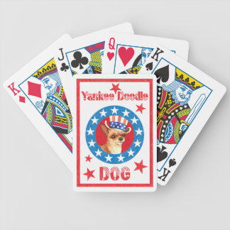 Patriotic Chihuahua Bicycle Playing Cards