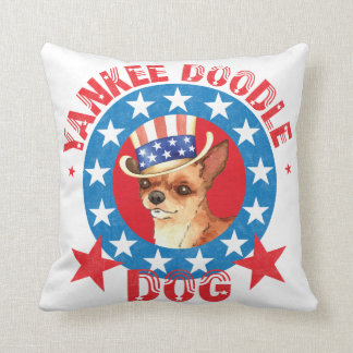 Patriotic Chihuahua Throw Pillow