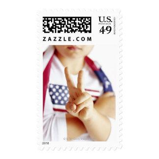 Patriotic child stamps