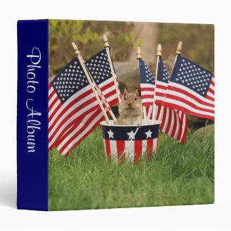 """Patriotic Chipmunk 1.5"""" Photo Album Binders"""