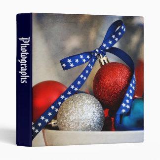 "Patriotic Christmas 1"" Photo Album Vinyl Binder"