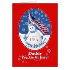 Patriotic Christmas Card For Daddy In Military at Zazzle