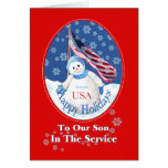 Patriotic Christmas Card for Son in Military