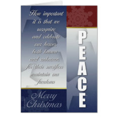 Patriotic CHristmas card with Snowflakes at Zazzle