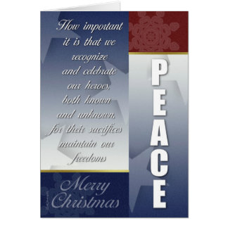 Patriotic CHristmas card with Snowflakes Cards