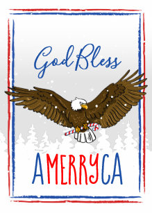 patriotic christmas cards holiday eagle - Patriotic Christmas Cards