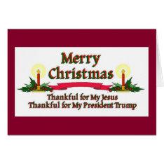 Patriotic Christmas Jesus Trump Card at Zazzle