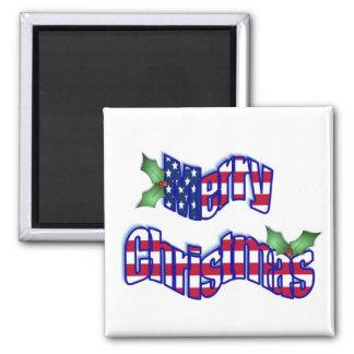 Patriotic Christmas Magnet