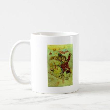 Patriotic Christmas mug