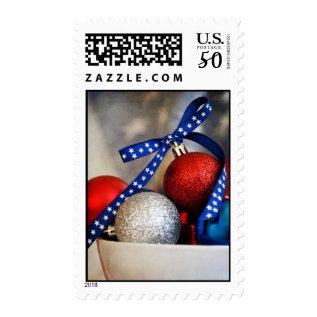 Patriotic Christmas Postage at Zazzle