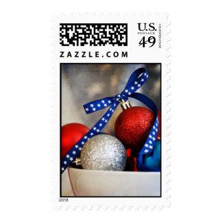 Patriotic Christmas Postage