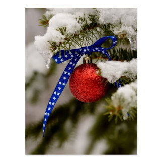 Patriotic Christmas Postcard