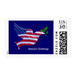 Patriotic Christmas Stamp at Zazzle
