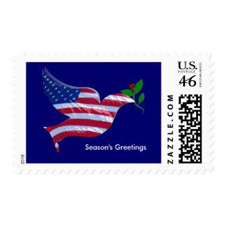 Patriotic Christmas Stamp