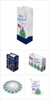Patriotic Christmas Tree USA Flag America Pride