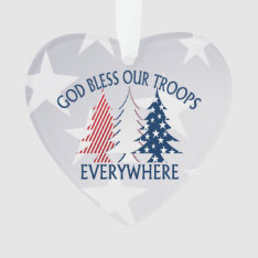 Patriotic Christmas Trees And Prayer Ornament at Zazzle