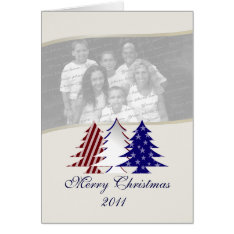 Patriotic Christmas Trees Card at Zazzle