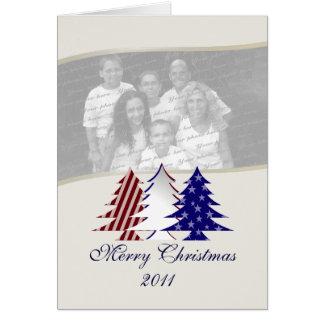 Patriotic Christmas Trees Card