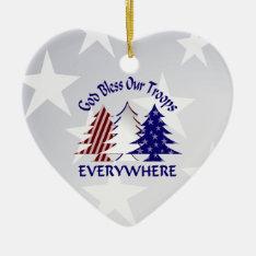 Patriotic Christmas Trees /  Military Prayer Ceramic Ornament at Zazzle