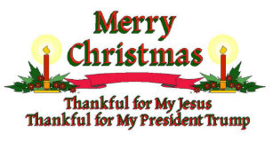 patriotic christmas trump holiday card