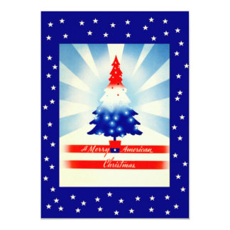 """Patriotic Christmas Welcome Home Party Invitation 5"""" X 7"""" Invitation Card"""